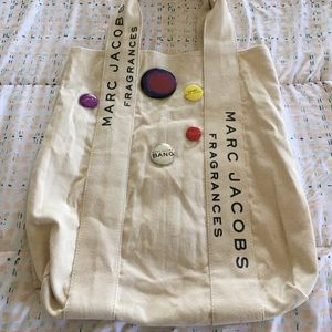 Marc Jacobs Large Canvas Tote with Pins